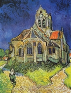 The Church at Auvers Sur Oise painting reproduction, Vincent Van Gogh