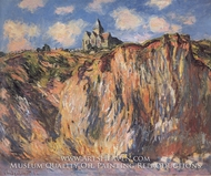 The Church at Varengeville, Effect of Morning by Claude Monet