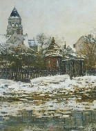 The Church at Vetheuil Winter painting reproduction, Claude Monet