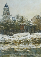 The Church at Vetheuil Winter by Claude Monet