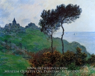 The Church of Varengeville, Cloudy Weather by Claude Monet