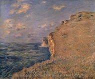 The Cliff at Fecamp painting reproduction, Claude Monet