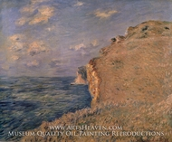 The Cliff at Fecamp by Claude Monet