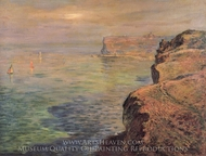 The Cliff at Grainval near Fecamp painting reproduction, Claude Monet