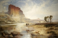 The Cliffs of Green River, Wyoming Territory painting reproduction, Thomas Moran