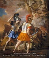 The Companions of Rinaldo painting reproduction, Nicolas Poussin