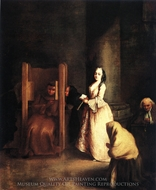 The Confession painting reproduction, Pietro Longhi