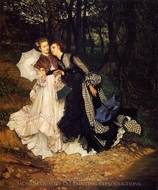 The Confidence painting reproduction, James Tissot