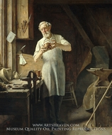 The Coppersmith painting reproduction, Edgar Melville Ward