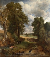 The Cornfield painting reproduction, John Constable