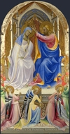 The Coronation of the Virgin painting reproduction, Lorenzo Monaco