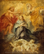 The Coronation of the Virgin painting reproduction, Peter Paul Rubens
