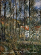 The Cote des Boeufs at L'Hermitage, near Pontoise by Camille Pissarro