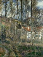 The Cote des Boeufs at L'Hermitage, near Pontoise painting reproduction, Camille Pissarro