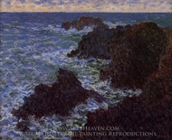 The Cote Sauvate painting reproduction, Claude Monet
