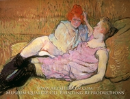 The Couch (The Sofa) by Henri De Toulouse-Lautrec