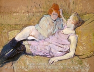 The Couch (The Sofa) painting reproduction, Henri De Toulouse-Lautrec