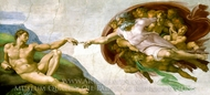 The Creation of Man painting reproduction, Michelangelo