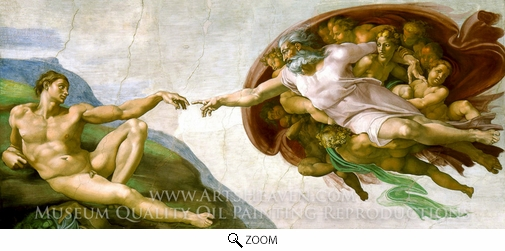 Michelangelo, The Creation of Man oil painting reproduction