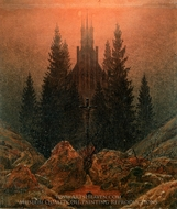 The Cross in the Mountains painting reproduction, Caspar David Friedrich
