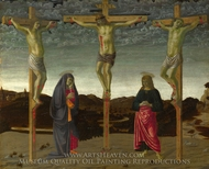 The Crucifixion painting reproduction, Francesco Botticini