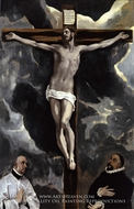 The Crucifixion with Two Donors by El Greco