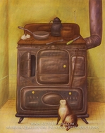 The Cuisine painting reproduction, Fernando Botero