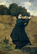 The Curious Little Girl by Jean-Baptiste Camille Corot