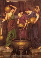 The Danaides painting reproduction, John William Waterhouse