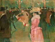 The Dance at the Moulin Rouge painting reproduction, Henri De Toulouse-Lautrec