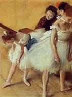 The Dance Examination painting reproduction, Edgar Degas