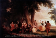 The Dance of the Battery in the Presence of Peter Stuyvesant painting reproduction, Asher Brown Durand