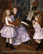 The Daughters of Catulle Mendes by Pierre-Auguste Renoir