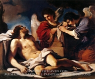 The Dead Christ Mourned by Two Angels by Guercino