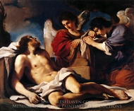 The Dead Christ Mourned by Two Angels painting reproduction, Guercino