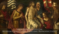 The Dead Christ with the Virgin and Saints painting reproduction, Marco Palmezzano