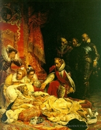 The Death of Elizabeth painting reproduction, Paul Delaroche