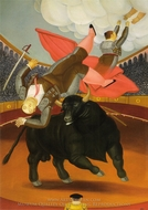 The Death of Luis Chalet painting reproduction, Fernando Botero