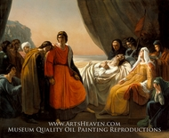 The Death of Saint Louis painting reproduction, Ary Scheffer