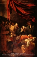 The Death of the Virgin painting reproduction, Caravaggio