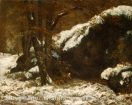 The Deer painting reproduction, Gustave Courbet