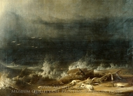 The Deluge towards Its Close painting reproduction, Joshua Shaw