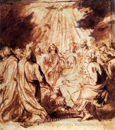 The Descent of the Holy Ghost painting reproduction, Sir Anthony Van Dyck