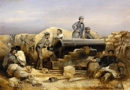The Diamond Battery at the Seige of Sebastopol, 15 December 1854 painting reproduction, William Simpson