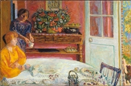 The Dining Room, Vernonnet by Pierre Bonnard