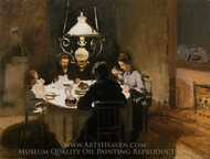 The Dinner painting reproduction, Claude Monet