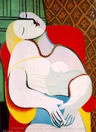 The Dream painting reproduction, Pablo Picasso (inspired by)