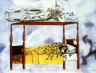 The Dream painting reproduction, Frida Kahlo