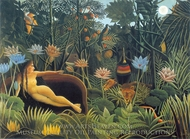 The Dream painting reproduction, Henri Rousseau