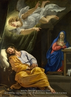 The Dream of Saint Joseph by Philippe De Champaigne